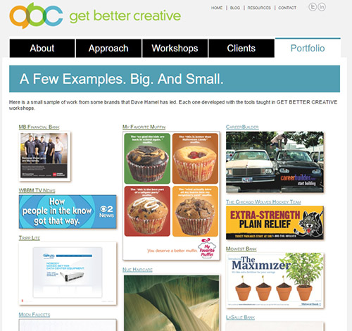 Get Better Creative portfolio