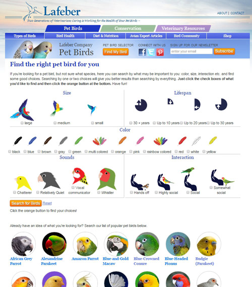 main species page