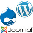 WordPress, Drupal and Joomla are all content management systems